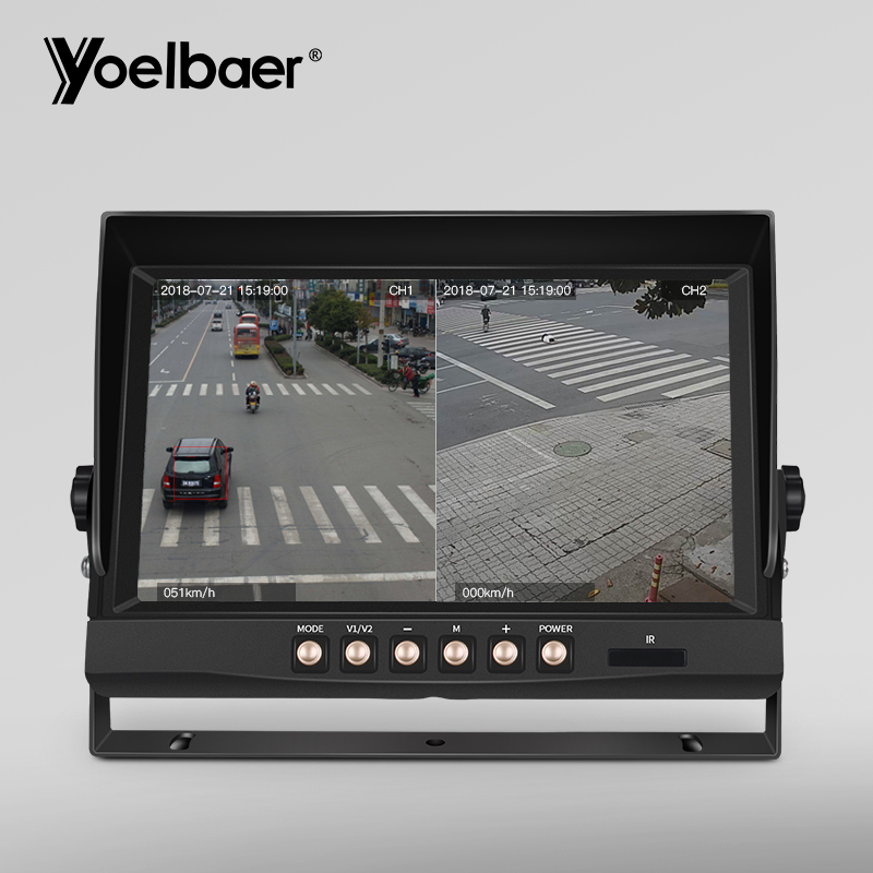 "9/"" Monitor DVR Recorder CCTV Car Rear View Camera System Backup Camera for Truck"